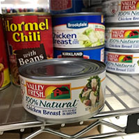 Food Bank - Most needed item - canned meats