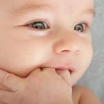 baby teething on fingers 2