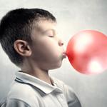 little boy blowing bubblegum 4