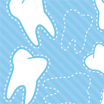 blue striped background with white teeth 2