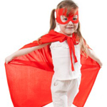 little girl dressed as a superhero 4