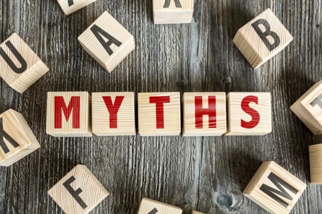 letter blocks spelling out myths 2