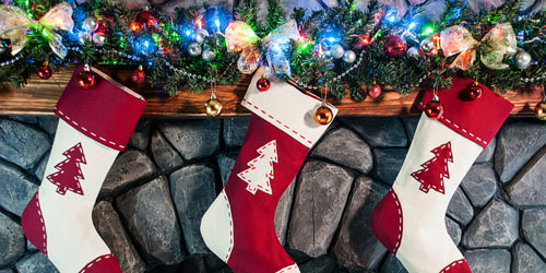 stockings on a mantel 2