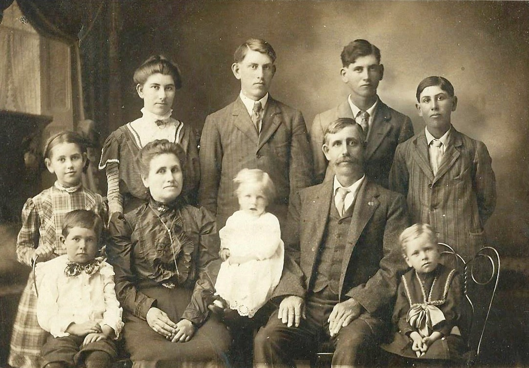 vintage photo of family not smiling