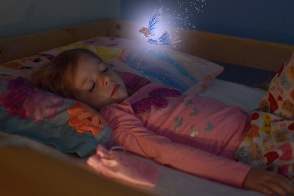 toddler sleeping while tooth fairy comes to visit