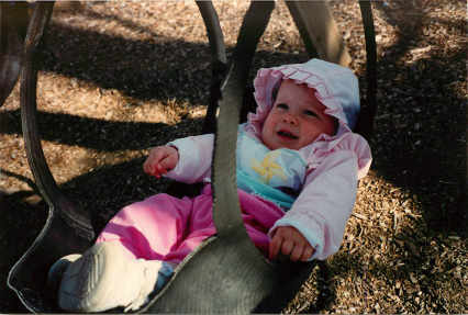 Photo of Kristen Ashe at Mama Shirley's as a child.