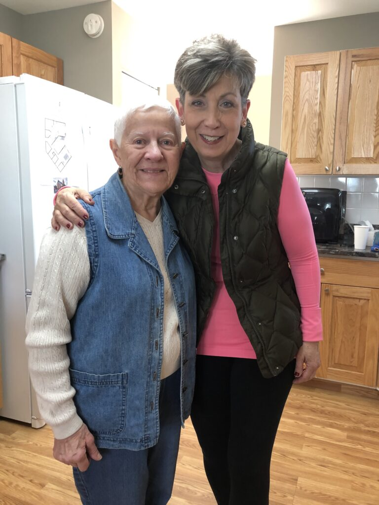 Pictured from left to right are Mama Shirley and Collen Ashe in March, 2020.
