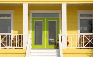 Very colorful entrance way to a Pensacola Florida home