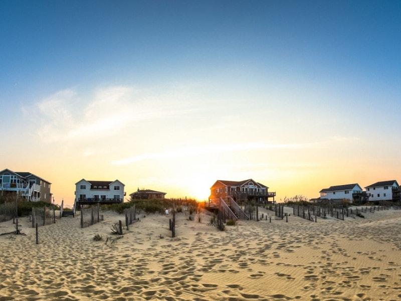 Oceanfront beach homes
