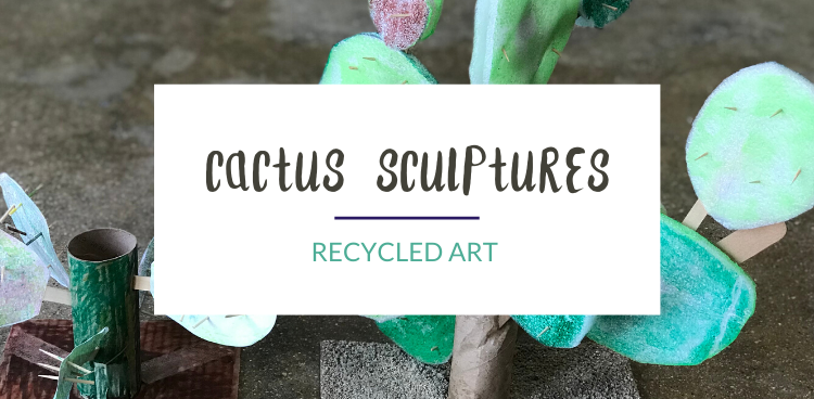 Recycled Cactus Art