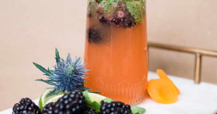 April's Mock-tail of the Month- Blackberry Mojito