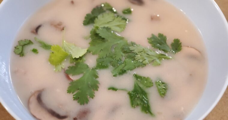 5 min meal-Coconut Lime Chicken Soup