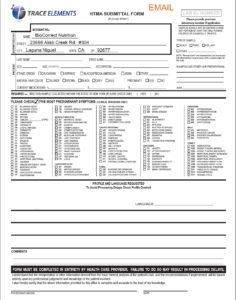 HTMA Lab Submittal Form
