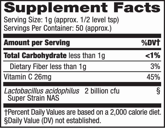 superdophilus powder label