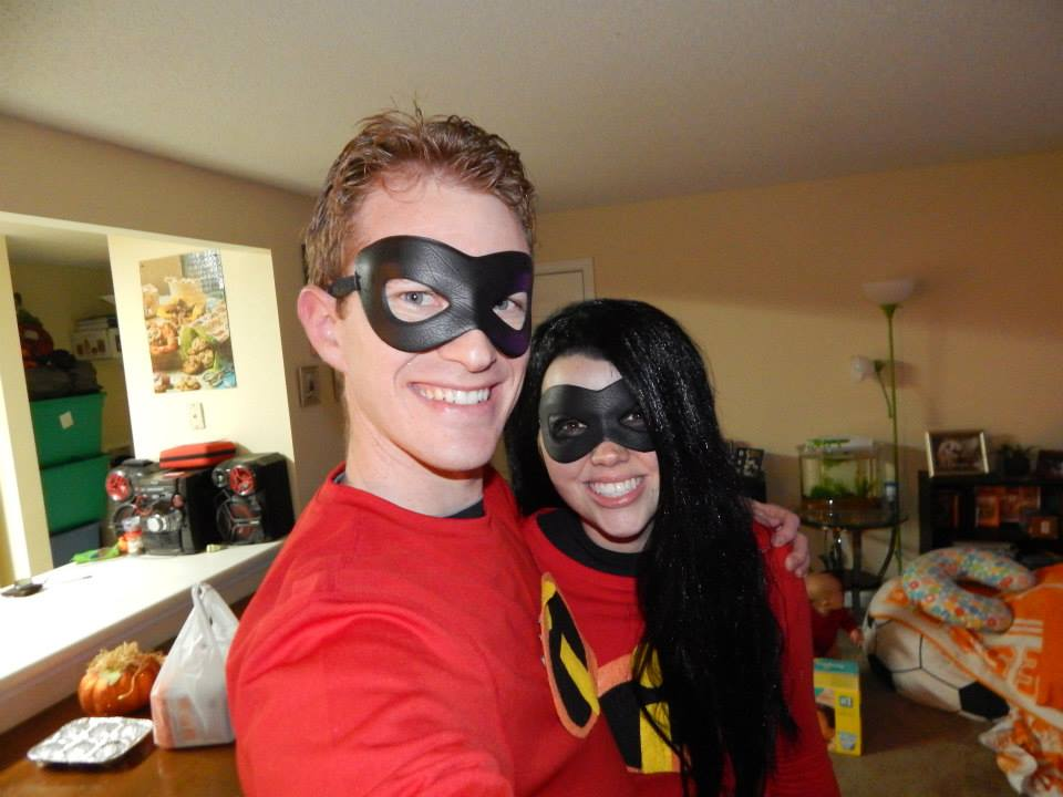 Jake and Mariah Gibbs as the Incredibles