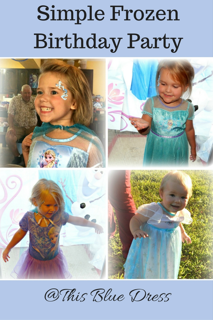Super Simple Frozen Birthday Party collage