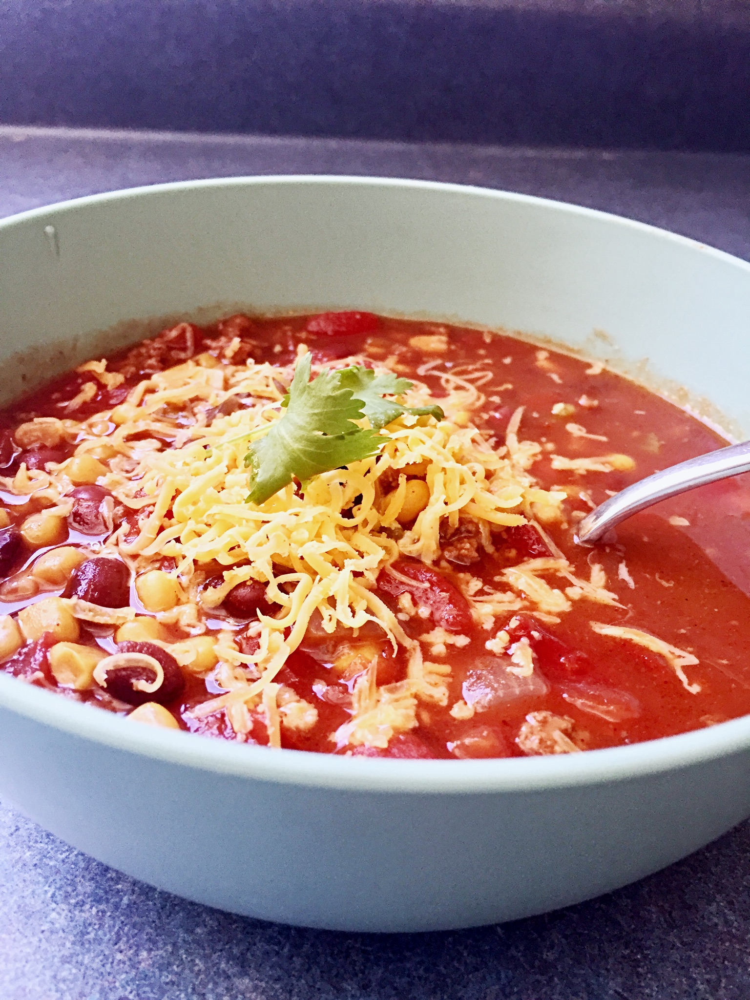 Slow Cooker Taco Soup Ready To Serve