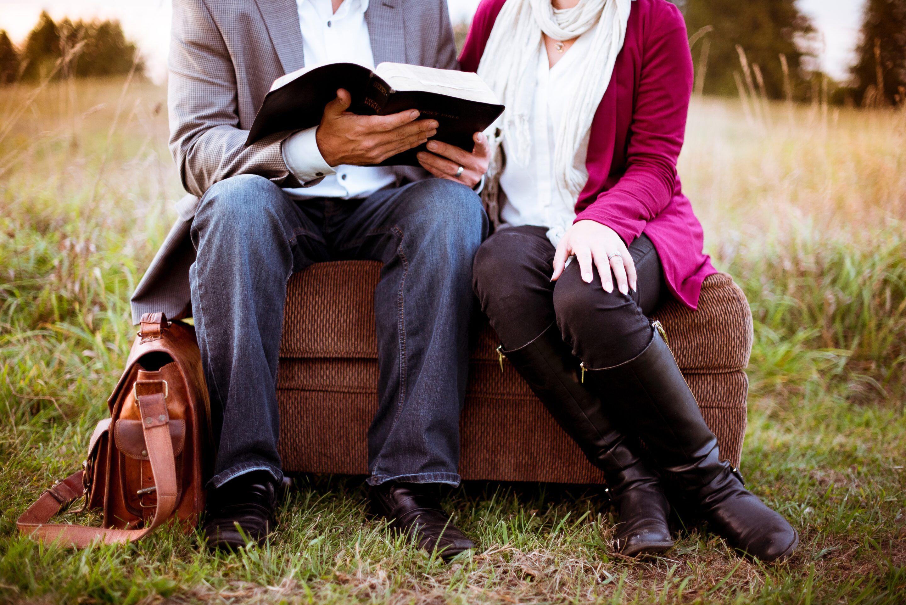 Couple studying the gospel together