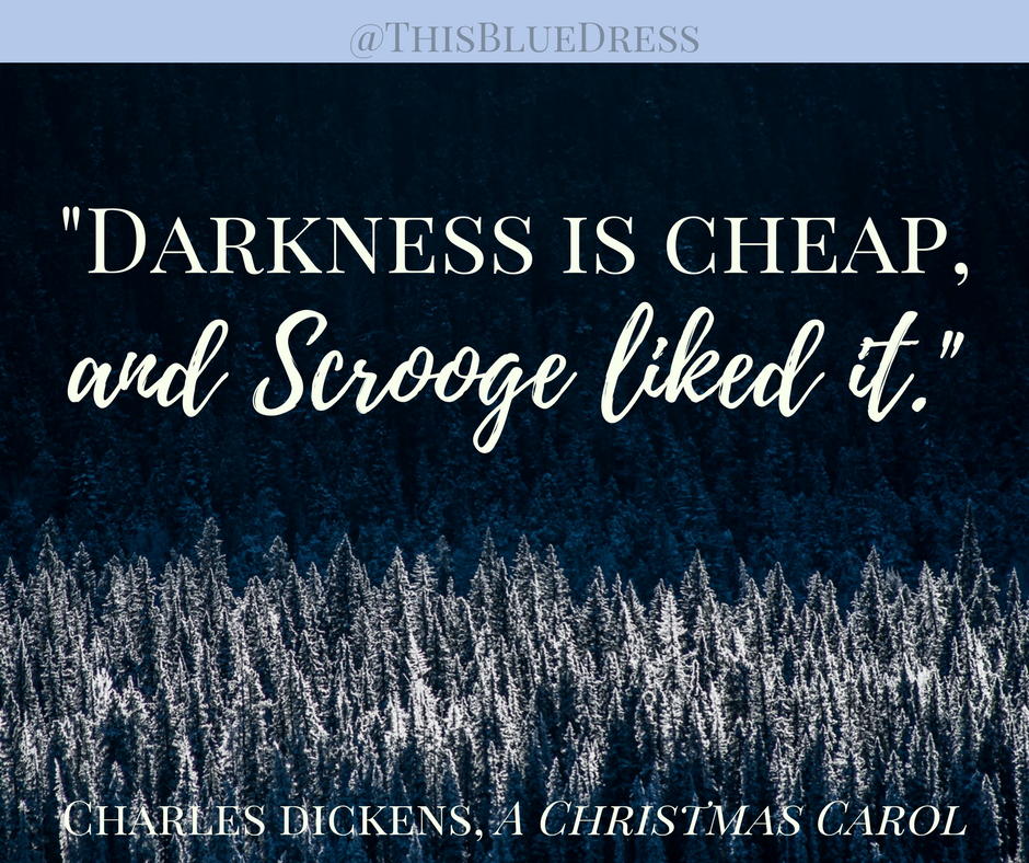 Darkness is Cheap and Scrooge liked it