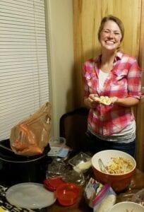 Makayla making Argentine Empanadas