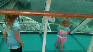 Top deck on the Enchantment of the Seas