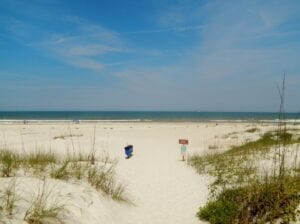 Gorgeous white sand at St. Augustine Florida