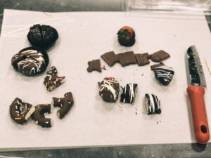 Chocolate sampling tray