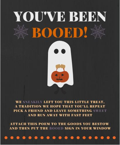 You've been Booed! Printable #booed #boo'd #halloweenfun