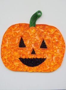 pumpkin quilling project