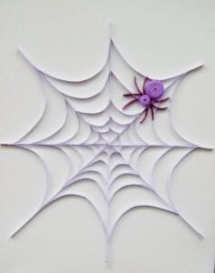 spider quilling project