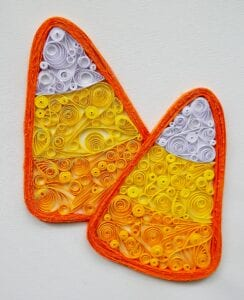 candy corn quilling