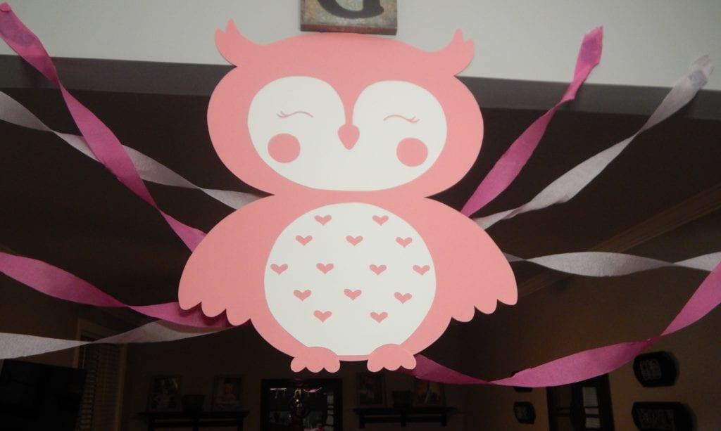 large pink owl