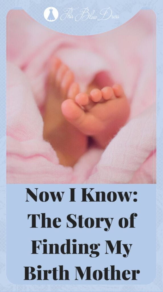 finding my birth mother story Pinterest pin
