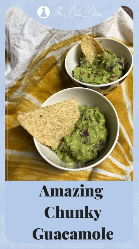 chunky guacamole recipe pinterest pin