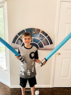 Blue Star Wars Pool Noodle Lightsabers