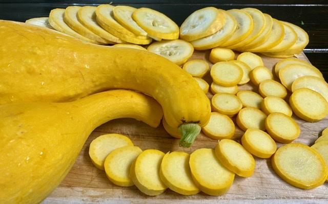 Sliced Garlic Squash Round Sizes
