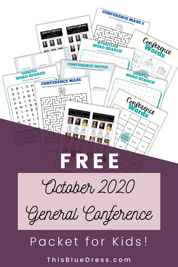 October 2020 General Conference Activity Packet for Kids