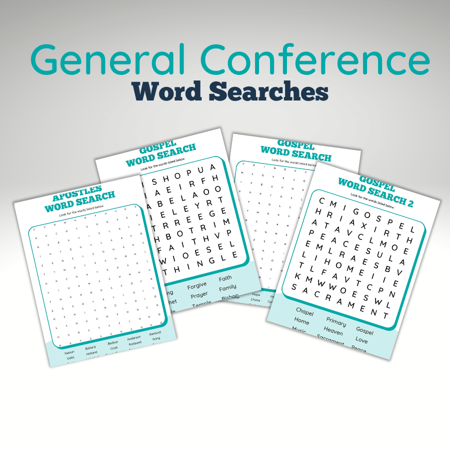 General Conference Activities Word Search Examples
