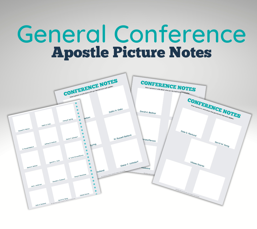 General Conference Apostle Picture Notes Examples