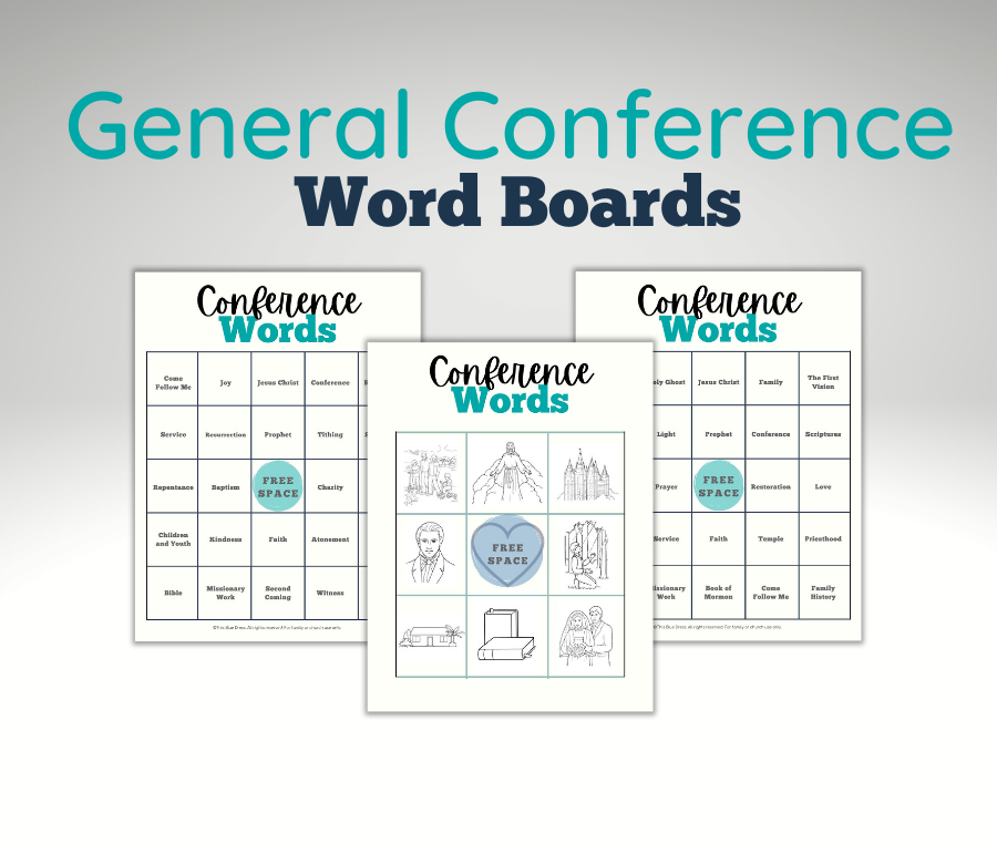 General Conference Word Board examples