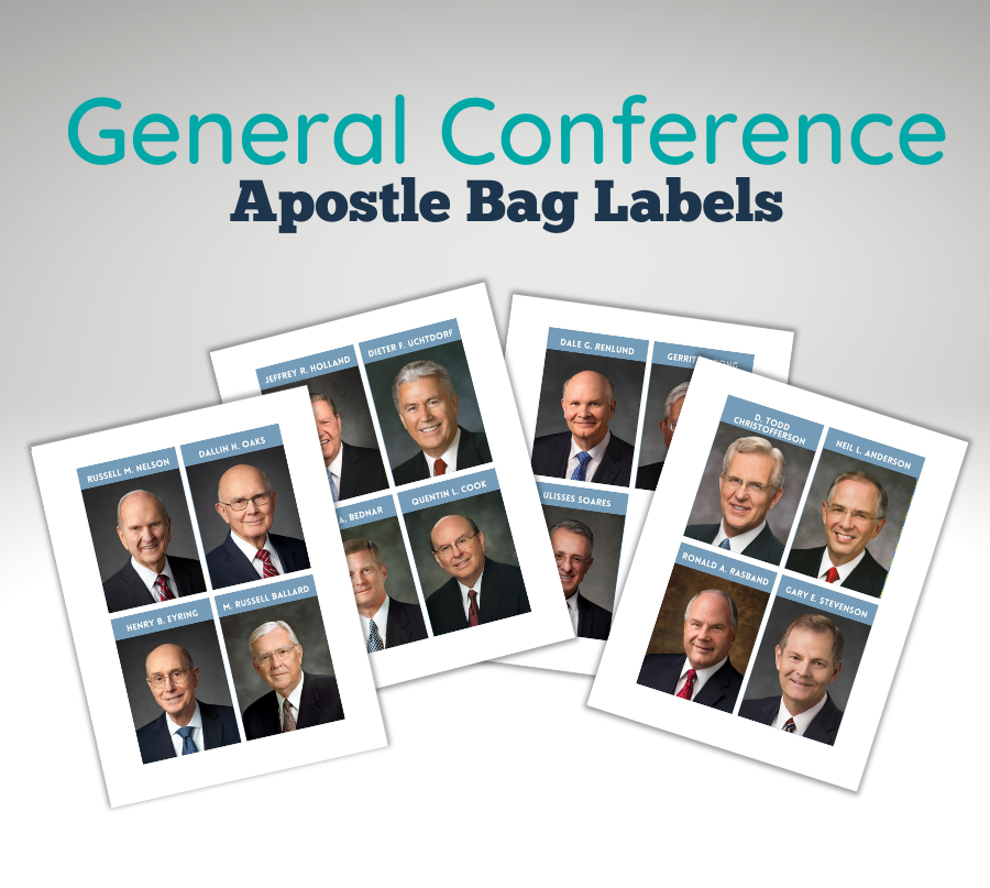 General Conference Apostle Bag Labels Example