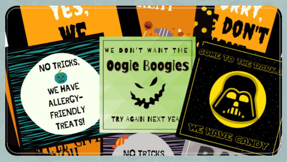 FREE Halloween 2020 Printable Door Signs
