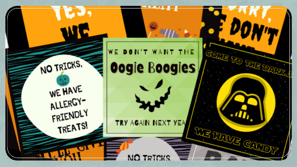 FREE Halloween 2020 Printable Door Signs