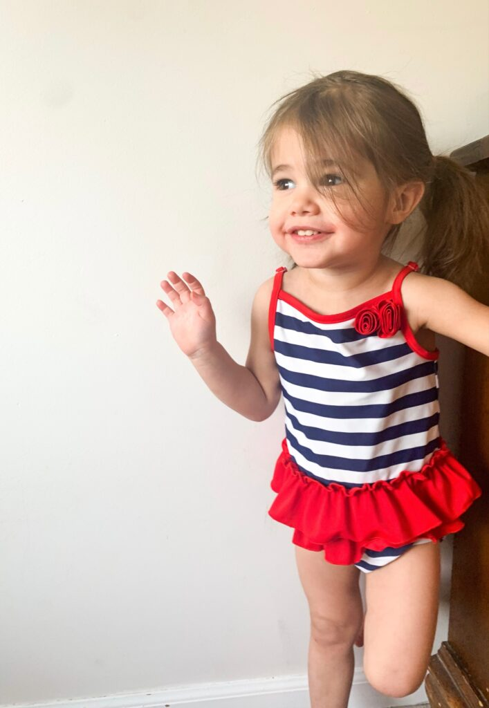 Three Little Peas Boutique Toddler in Swimsuit