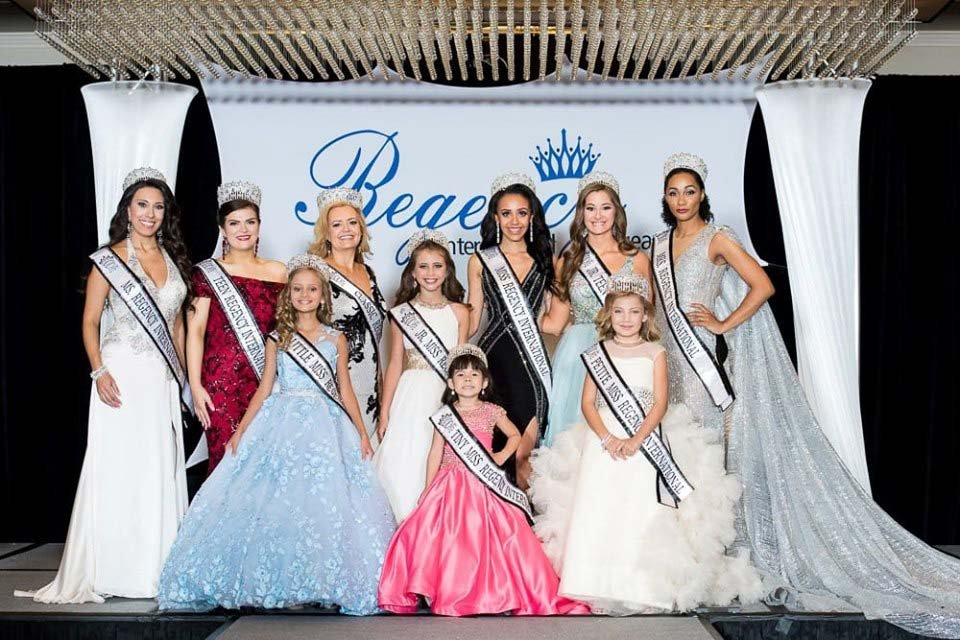 Regency International Pageant, Tiny, Petite, Jr. Miss, Little Miss, Jr Teen, Teen, Miss, Ms, Mrs. & Classic pageants. New locations coming soon.
