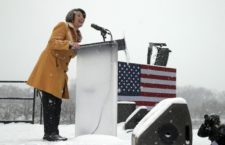 Amy Klobuchar announces presidential bid in Minneapolis at Boom Island Park - Photo Credit: AP Photo/Jim Mone