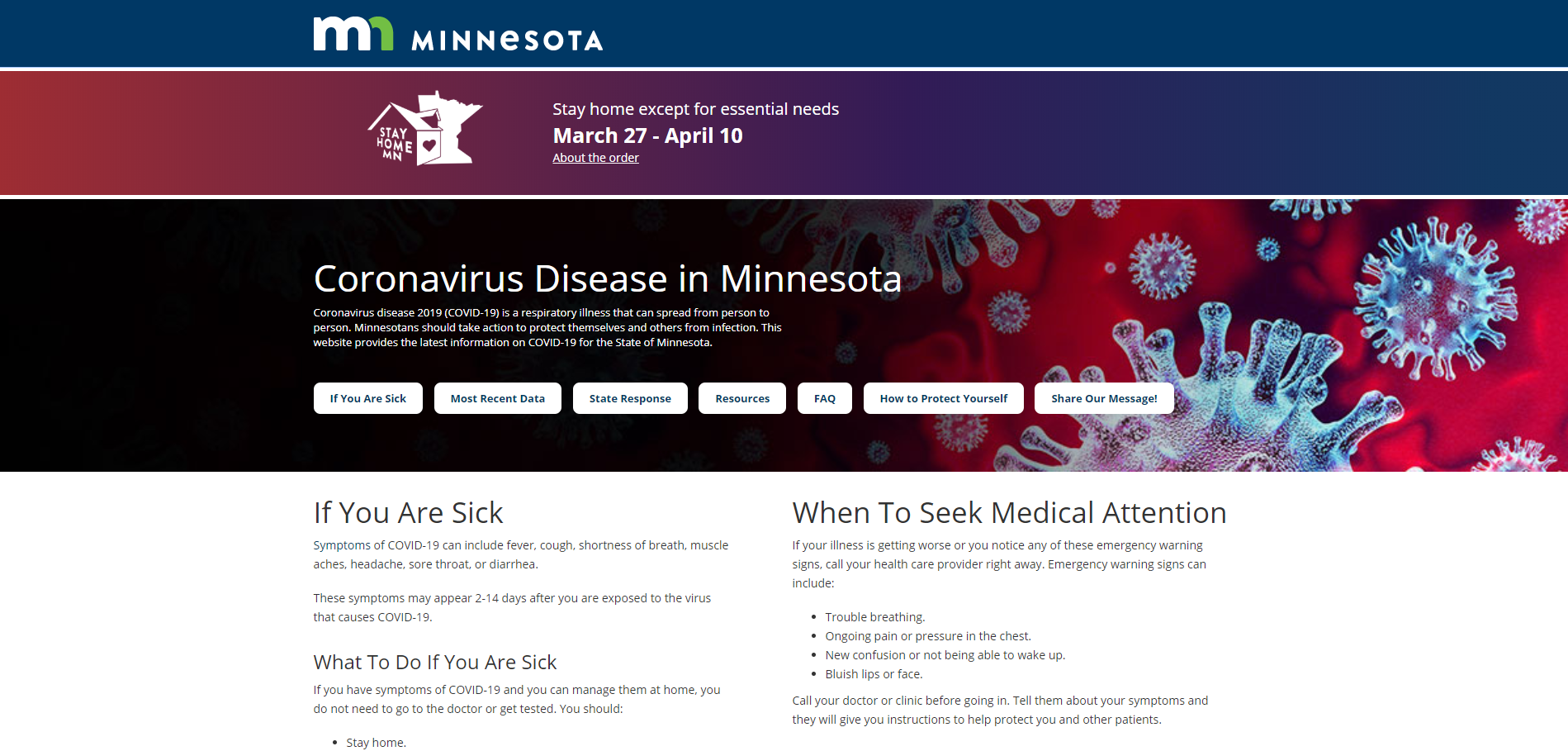 Minnesota Releases New COVID-19 Website For Residents