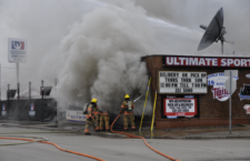 The State Fire Marshal announced that the cause of the Ultimate Sports Bar and Grill fire from April 6 is undetermined. Photo credit: Tim Speier, University Chronicle