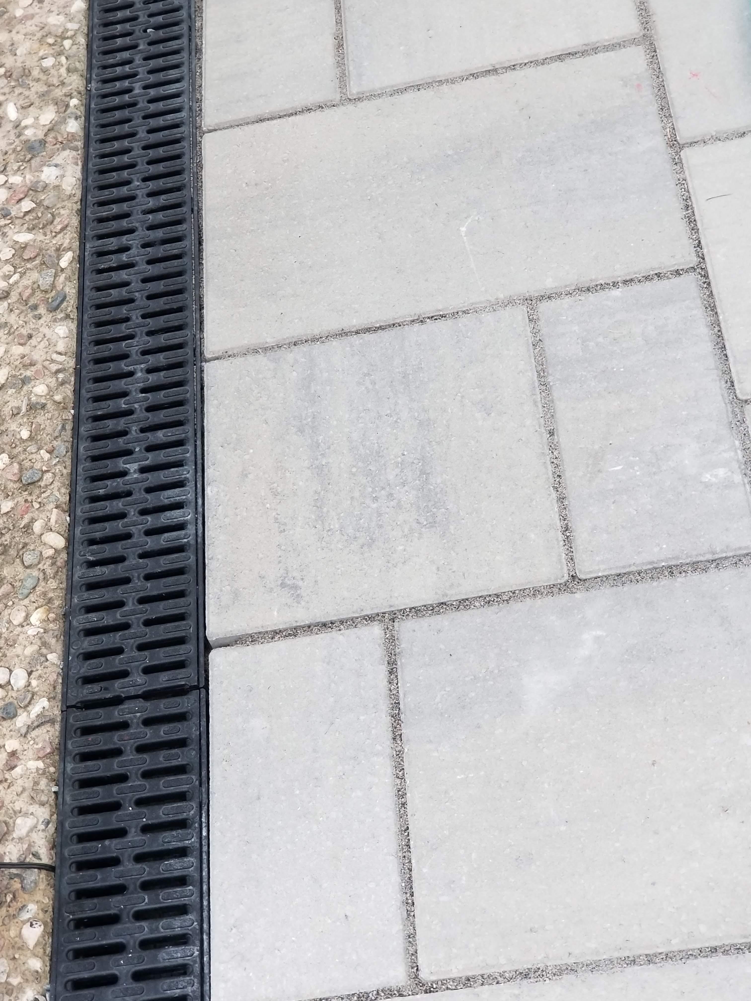 Drainage surface pavé uni