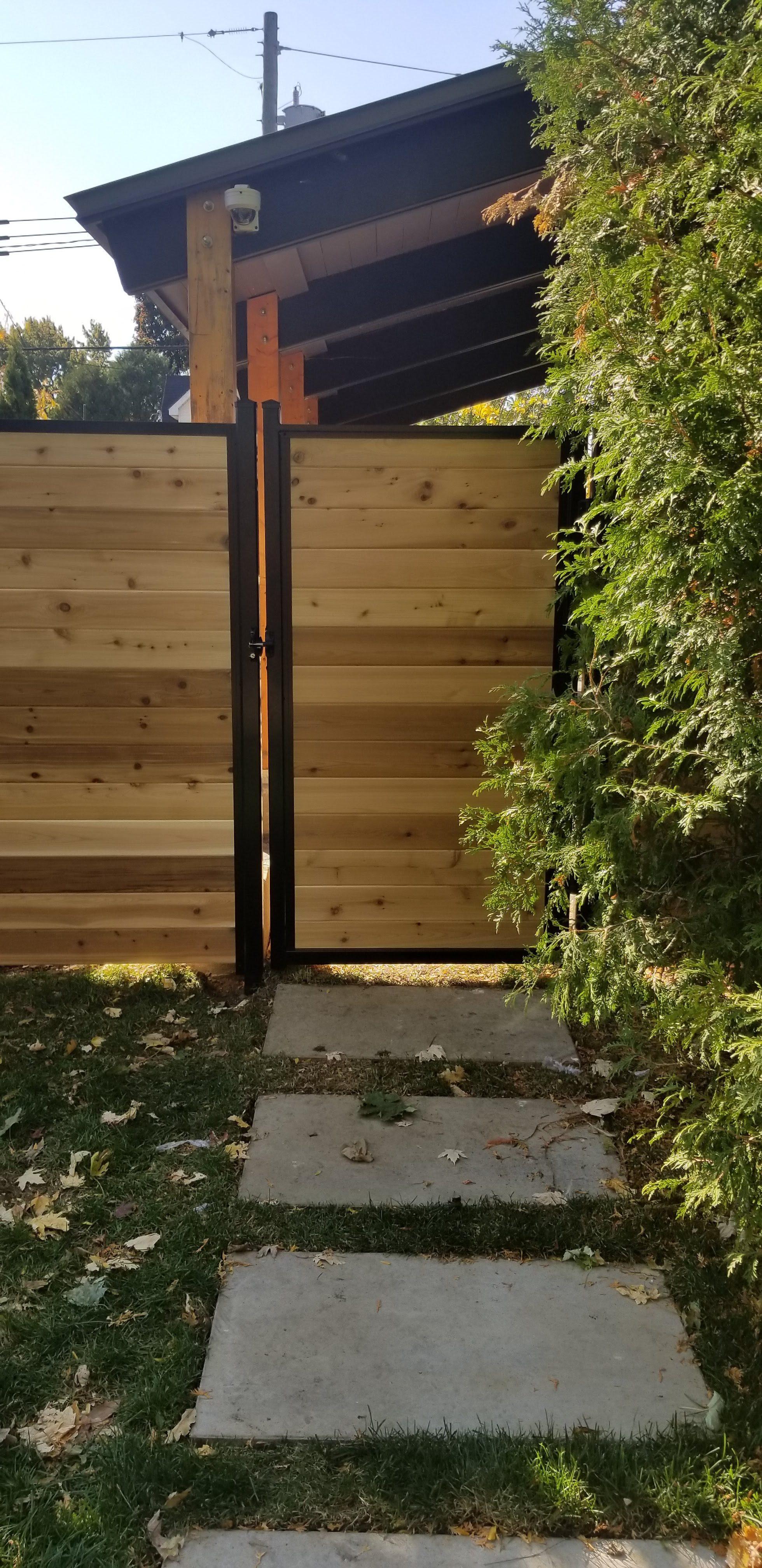 panneau de clôture en cèdre rouge